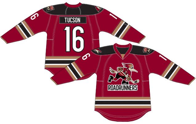 Tucson Roadrunners Uniform Road Uniform (2016/17-Pres) -  SportsLogos.Net
