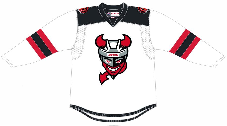 Binghamton Devils Uniform Home Uniform (2017/18-2020/21) - Home uniform SportsLogos.Net