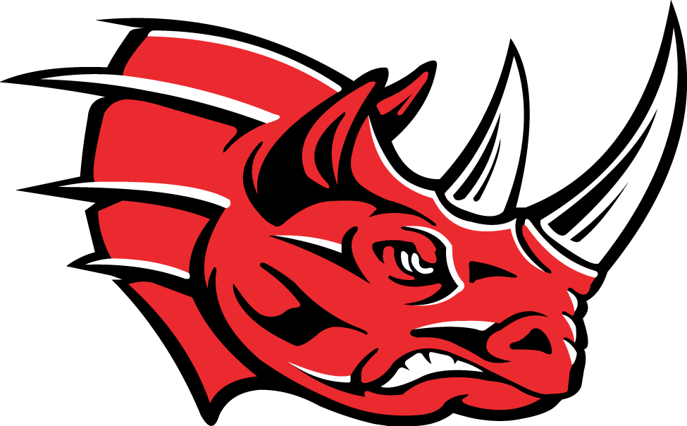Grand Rapids Rampage Logo Alternate Logo (1998-2004) - Angry red rhinoceros with white and black highlights SportsLogos.Net