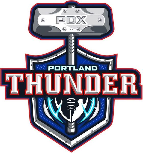 Portland  Thunder Logo Primary Logo (2014-2015) -  SportsLogos.Net