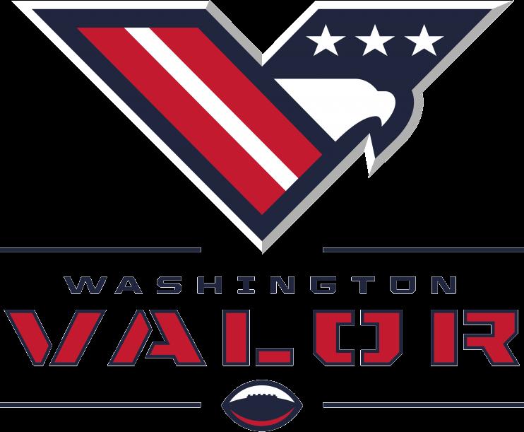 Washington  Valor Logo Primary Logo (2017-Pres) -  SportsLogos.Net