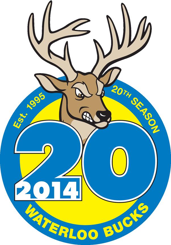 Waterloo Bucks Logo Anniversary Logo (2014) -  SportsLogos.Net