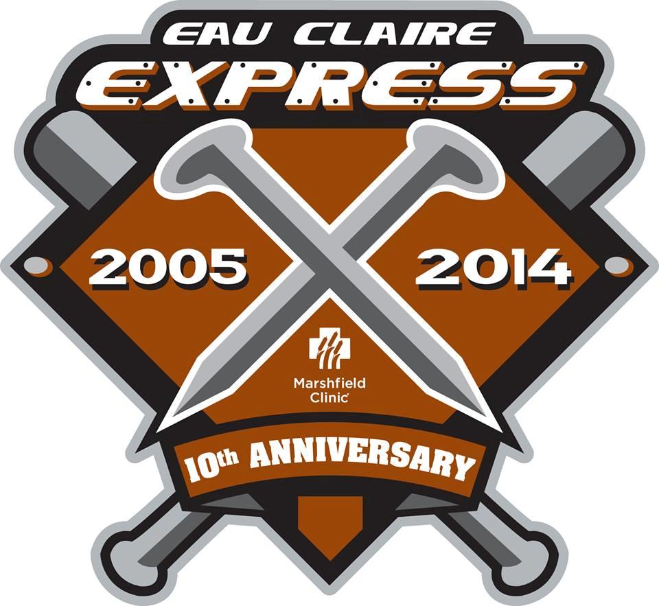 Eau Claire Express Logo Anniversary Logo (2014) -  SportsLogos.Net