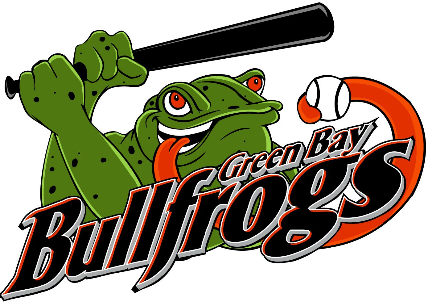 Green Bay Bullfrogs Logo Primary Logo (2007-Pres) -  SportsLogos.Net