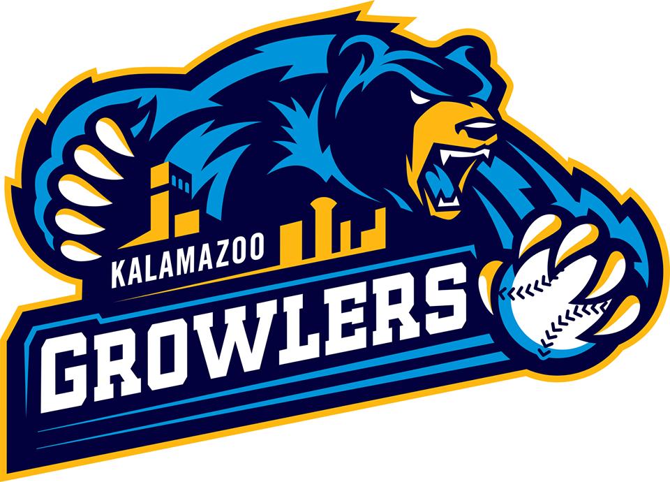 Kalamazoo Growlers Logo Primary Logo (2014-Pres) -  SportsLogos.Net