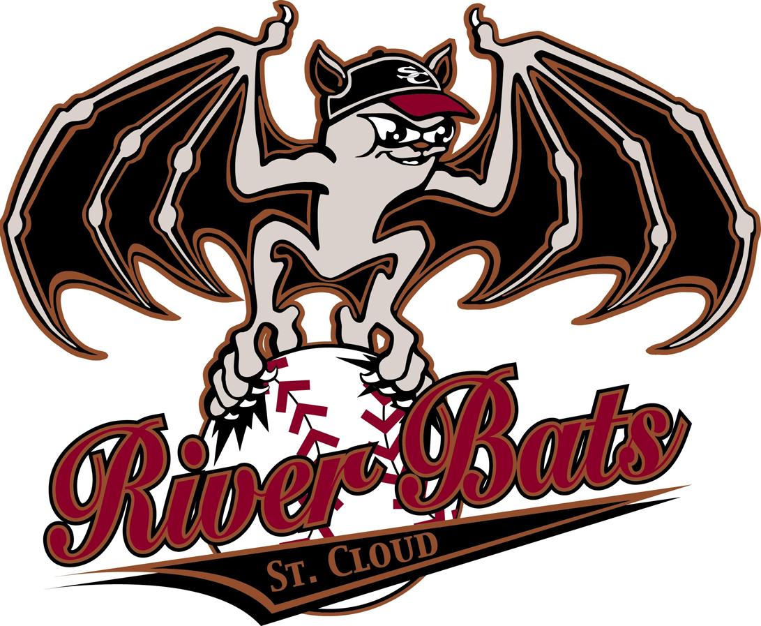 St. Cloud River Bats Logo Primary Logo (1997-2011) -  SportsLogos.Net