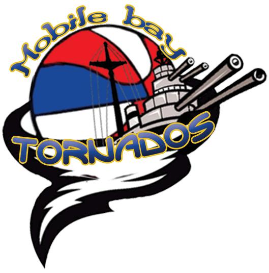 Mobile Bay Tornados Logo Primary Logo (2013/14-Pres) -  SportsLogos.Net
