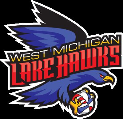 West Michigan Lake Hawks Logo Primary Logo (2015/16-Pres) -  SportsLogos.Net