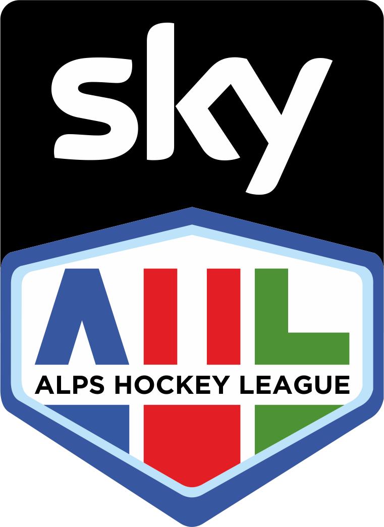 Alps Hockey League Logo Sponsored Logo (2016/17-Pres) - Sky Alps Hockey League logo SportsLogos.Net