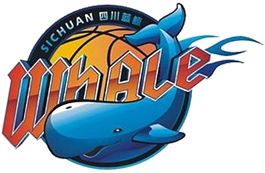 Sichuan Blue Whales Logo Primary Logo (2009/10-Pres) - 团队徽章标志符号  四川金强蓝鲸) SportsLogos.Net