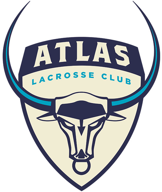 Atlas LC Logo Primary Logo (2019-Pres) - A bulls head with large horns on a beige shield SportsLogos.Net