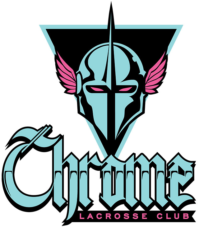 Chrome LC Logo Primary Logo (2019-Pres) - A knights helmet with 1980s inspired colour scheme and visuals SportsLogos.Net