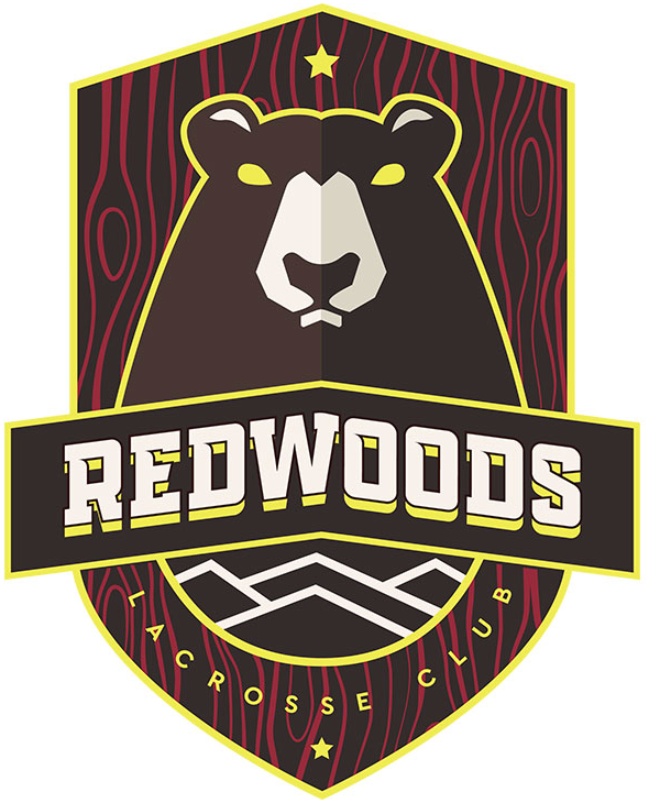 Redwoods LC Logo Primary Logo (2019-Pres) - A brown bear inside a shield with team name arched across SportsLogos.Net