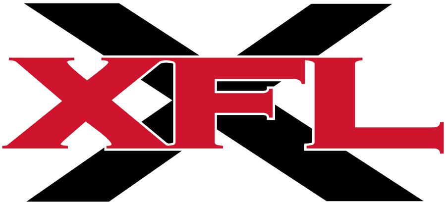 XFL Logo Primary Logo (2001) - XFL in red over a black X SportsLogos.Net
