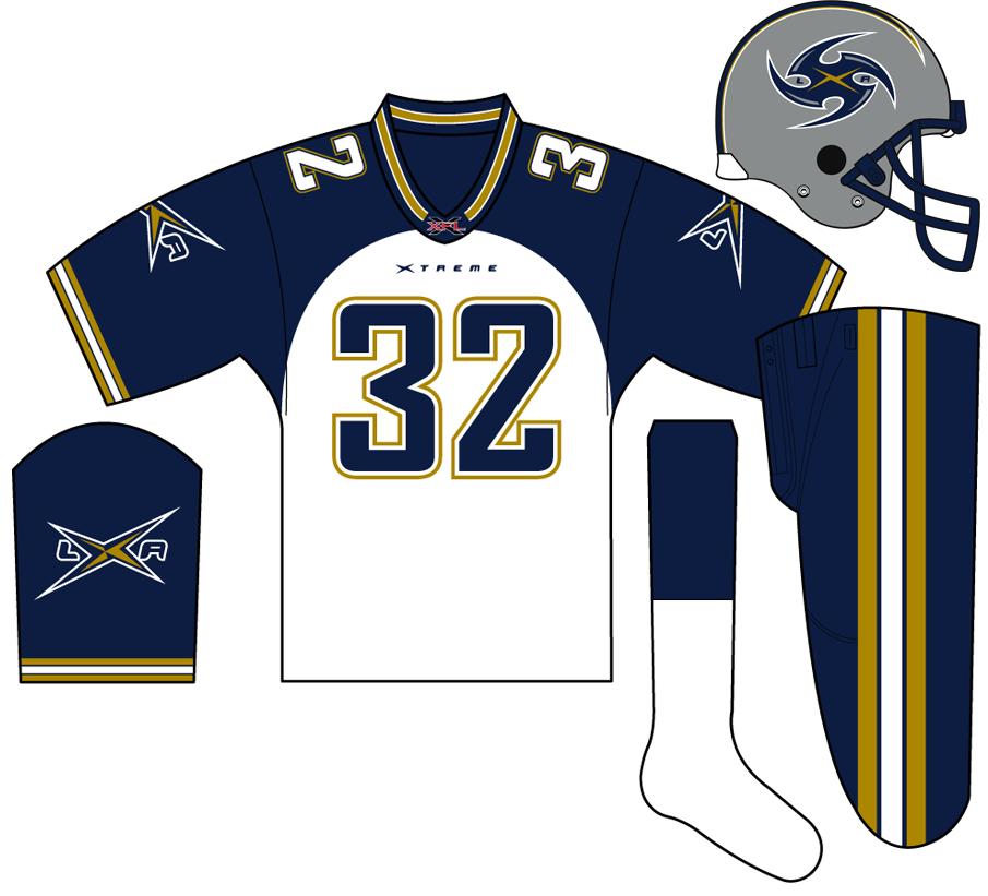 Los Angeles Xtreme Uniform Road Uniform (2001) -  SportsLogos.Net