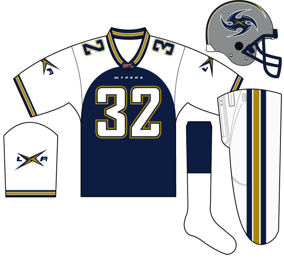 Los Angeles Xtreme Uniform Home Uniform (2001) -  SportsLogos.Net
