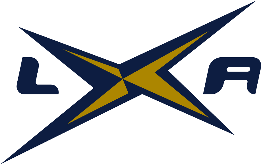 Los Angeles Xtreme Logo Alternate Logo (2001) - X in the middle of purple LA SportsLogos.Net