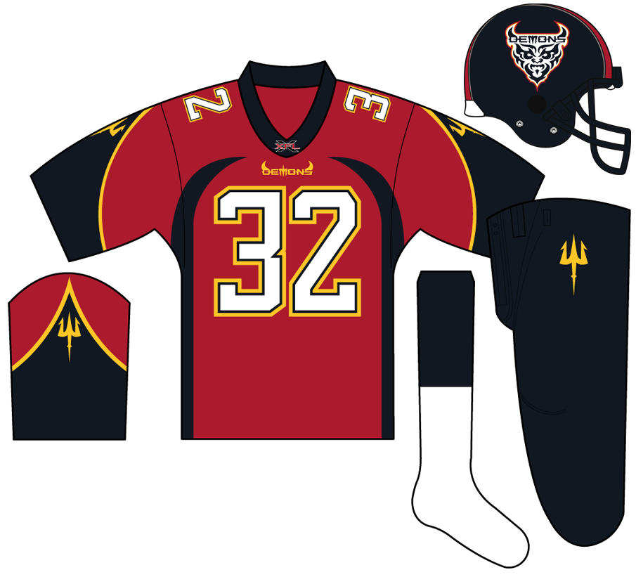 San Francisco Demons Uniform Home Uniform (2001) -  SportsLogos.Net