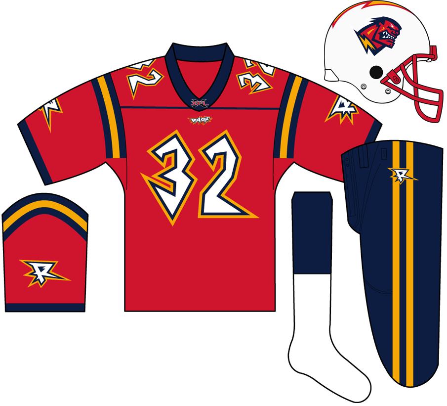 Orlando Rage Uniform Home Uniform (2001) -  SportsLogos.Net