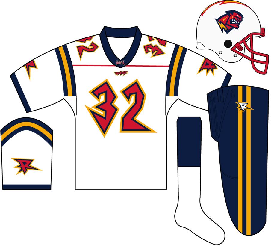 Orlando Rage Uniform Road Uniform (2001) -  SportsLogos.Net