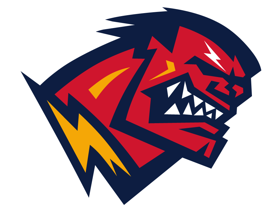 Orlando Rage Logo Primary Logo (2001) - Head of man gritting his teeth and turning red SportsLogos.Net