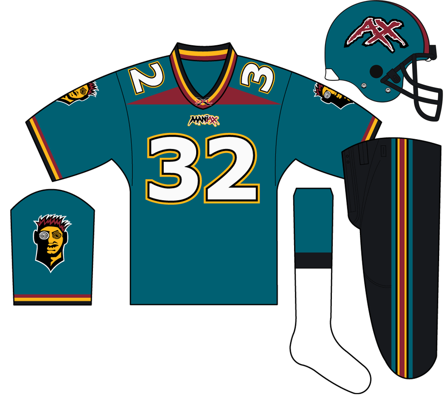 Memphis Maniax Uniform Home Uniform (2001) -  SportsLogos.Net