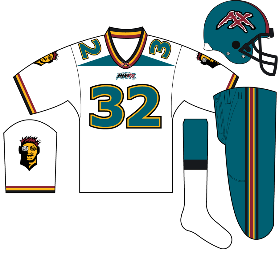 Memphis Maniax Uniform Road Uniform (2001) -  SportsLogos.Net