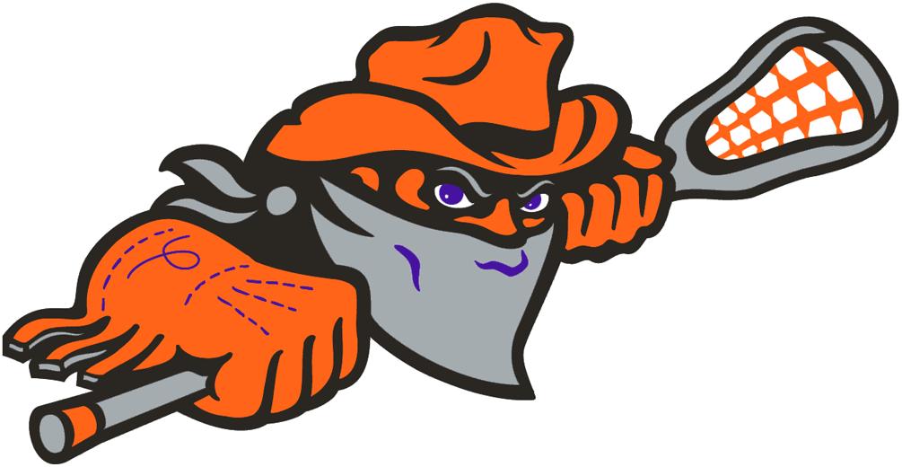 Buffalo Bandits Logo Alternate Logo (1997/98-Pres) - A masked bandit holding a lacrosse stick SportsLogos.Net