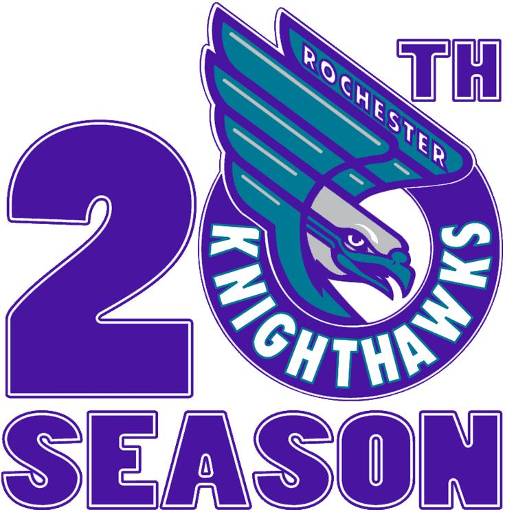 Rochester Knighthawks Logo Anniversary Logo (2013/14) - Rochester Knighthawks 20th season logo SportsLogos.Net