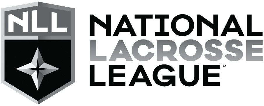 National Lacrosse League Logo Primary Logo (2016/17-Pres) - NLL star in black and silver on a shield with league acronym above and league name to the right SportsLogos.Net