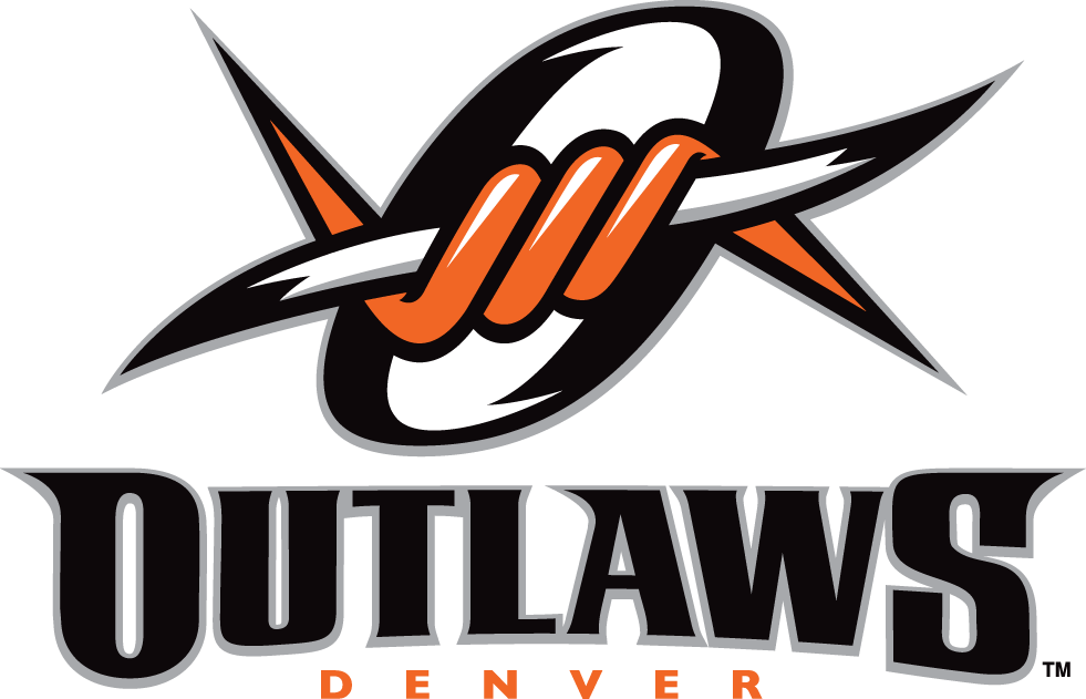 Denver Outlaws Logo Primary Logo (2006-Pres) - Orange and white barbed wire inside a black 'O' SportsLogos.Net