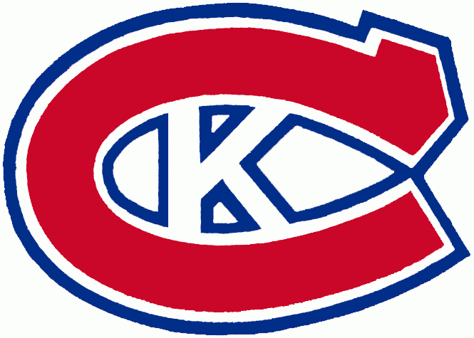 Kingston Canadians Logo Primary Logo (1973/74-1987/88) - A red C with a blue and white K inside of it SportsLogos.Net
