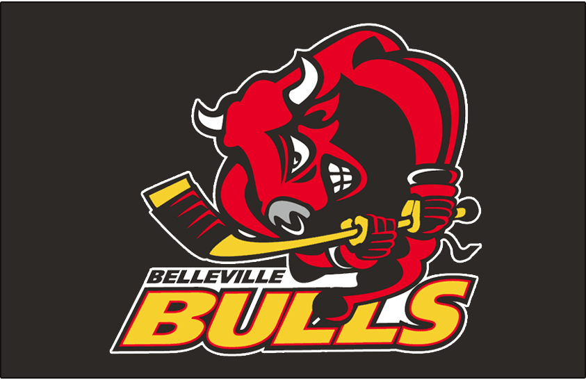Belleville Bulls Logo Jersey Logo (1998/99-2004/05) -  SportsLogos.Net