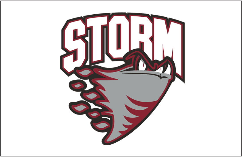 Guelph Storm Logo Jersey Logo (1997/98-2017/18) -  SportsLogos.Net