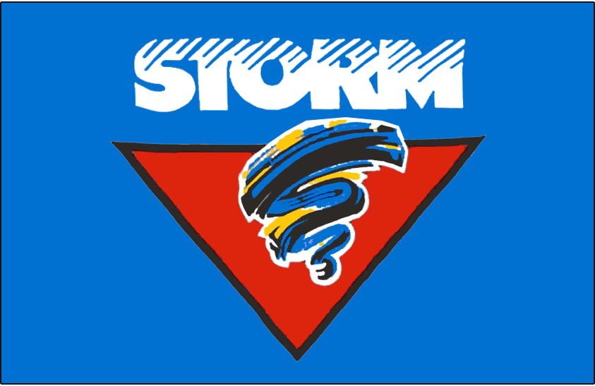Guelph Storm Logo Jersey Logo (1993/94-1996/97) -  SportsLogos.Net