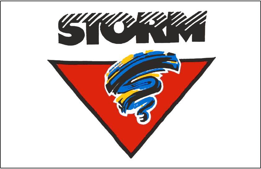 Guelph Storm Logo Jersey Logo (1990/91-1996/97) -  SportsLogos.Net