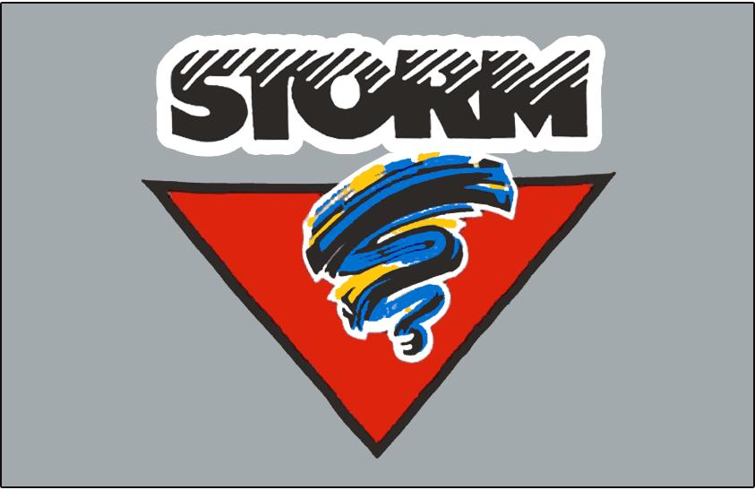 Guelph Storm Logo Jersey Logo (1990/91-1992/93) -  SportsLogos.Net