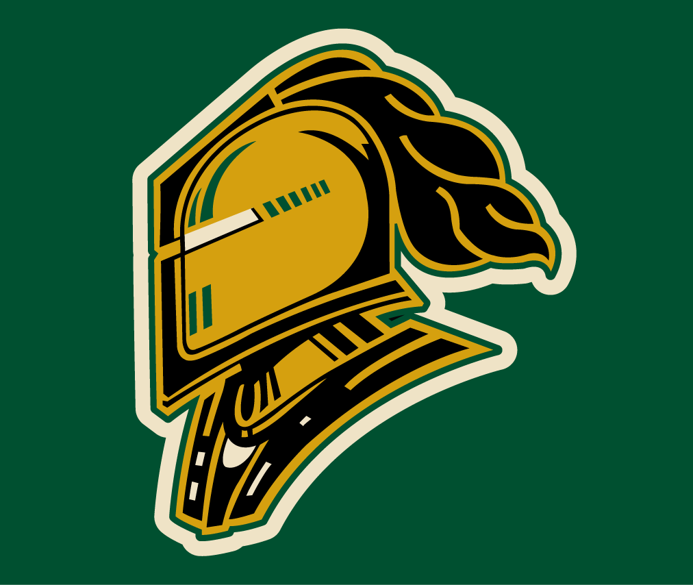 London Knights Logo Jersey Logo (2011/12-Pres) - A golden knight's helmet with black and white detailing. Worn the crest on the new alternate jersey that debuted during the 2011-12 season. SportsLogos.Net