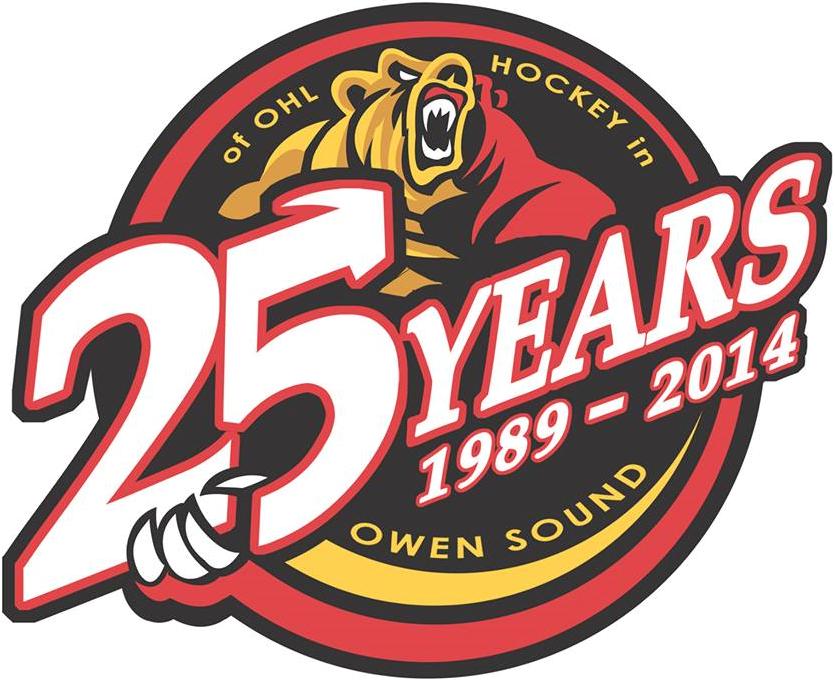 Owen Sound Attack Logo Anniversary Logo (2013/14) -  SportsLogos.Net