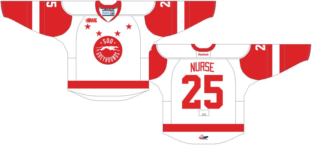 Sault Ste. Marie Greyhounds Uniform Home Uniform (2013/14-Pres) -  SportsLogos.Net