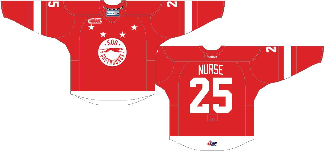 Sault Ste. Marie Greyhounds Uniform Road Uniform (2013/14-Pres) -  SportsLogos.Net