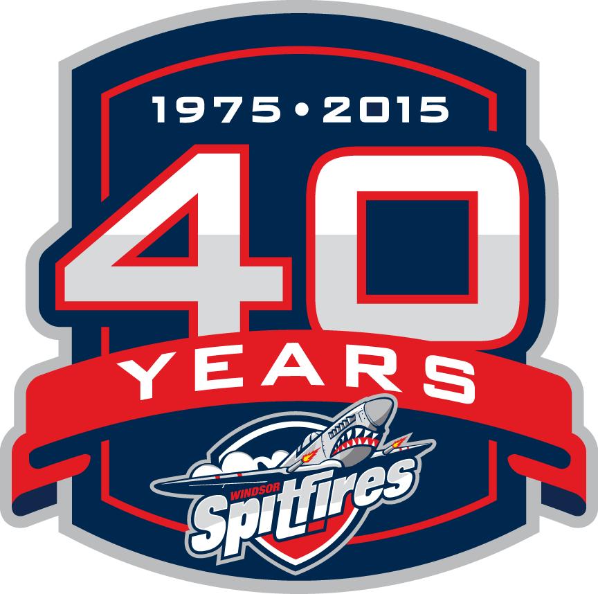 Windsor Spitfires Logo Anniversary Logo (2014/15) -  SportsLogos.Net