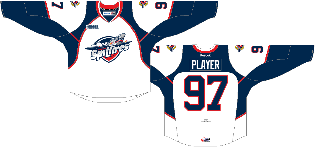Windsor Spitfires Uniform Home Uniform (2013/14-Pres) -  SportsLogos.Net