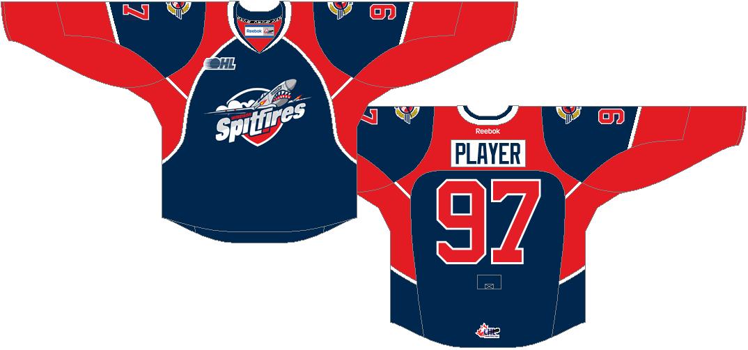 Windsor Spitfires Uniform Road Uniform (2013/14-Pres) -  SportsLogos.Net