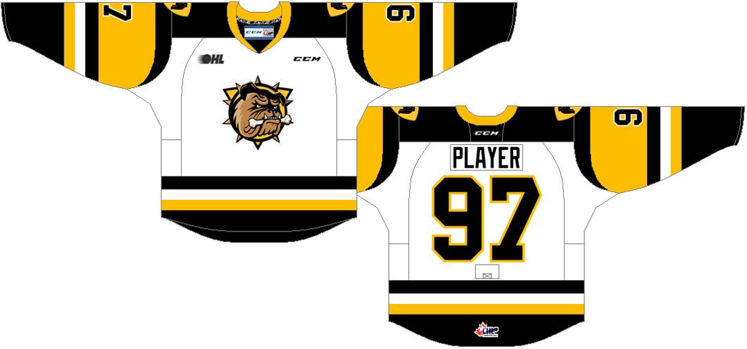Hamilton Bulldogs Uniform Home Uniform (2016/17-Pres) -  SportsLogos.Net