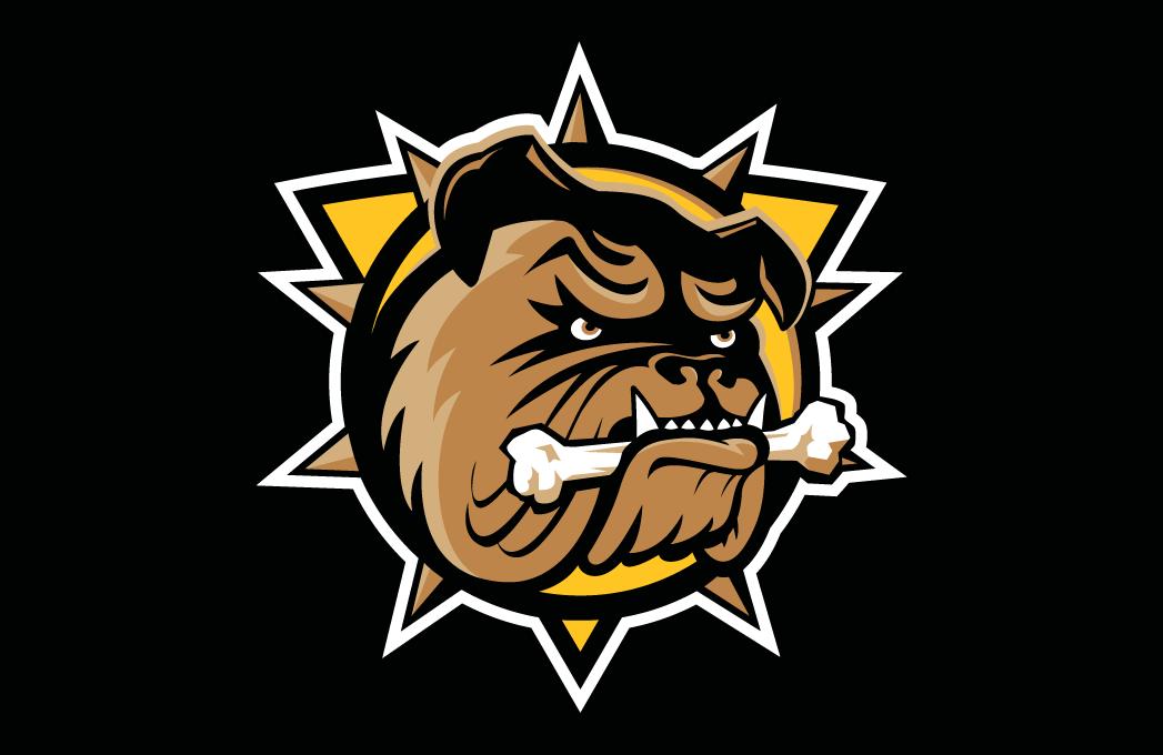 Hamilton Bulldogs Logo Jersey Logo (2016/17-Pres) - Road jersey crest SportsLogos.Net