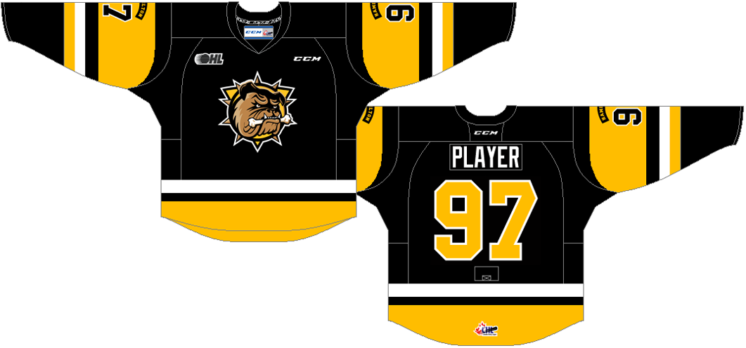 Hamilton Bulldogs Uniform Road Uniform (2016/17-Pres) -  SportsLogos.Net