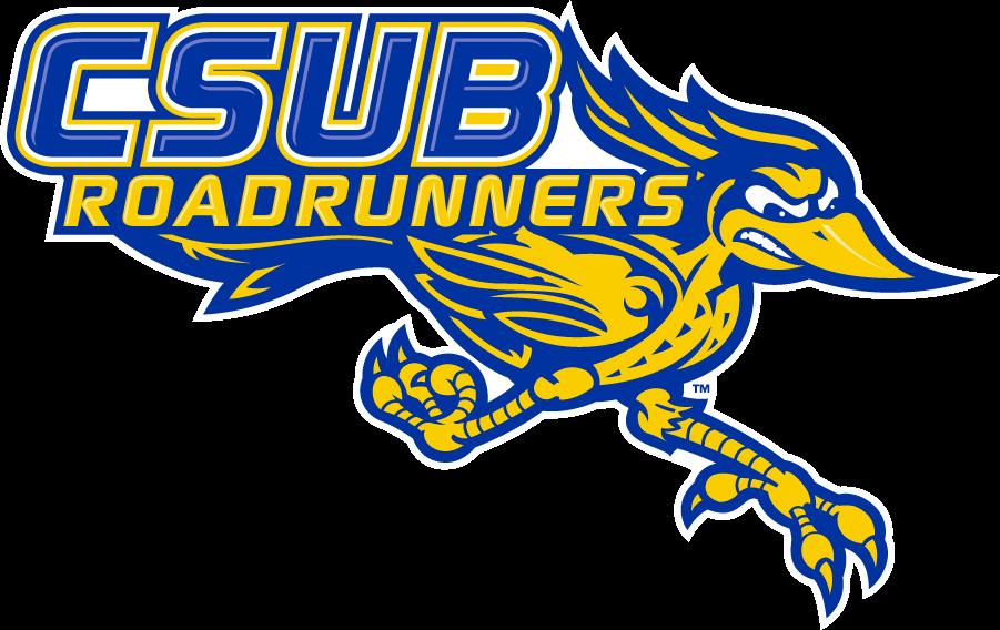 CSU Bakersfield Roadrunners Logo Secondary Logo (2006-2017) - CSUB ROADRUNNERS wordmark combined with the full-body roadrunner logo. SportsLogos.Net