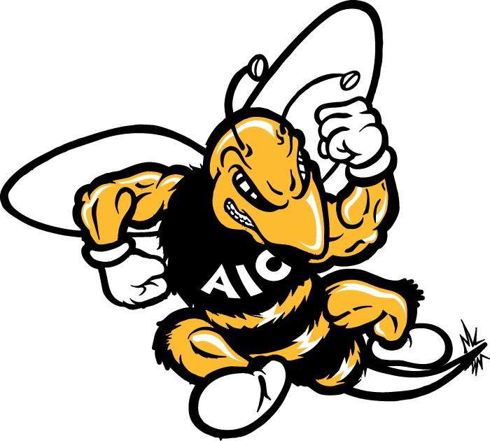 AIC Yellow Jackets Logo Primary Logo (2001-2008) -  SportsLogos.Net