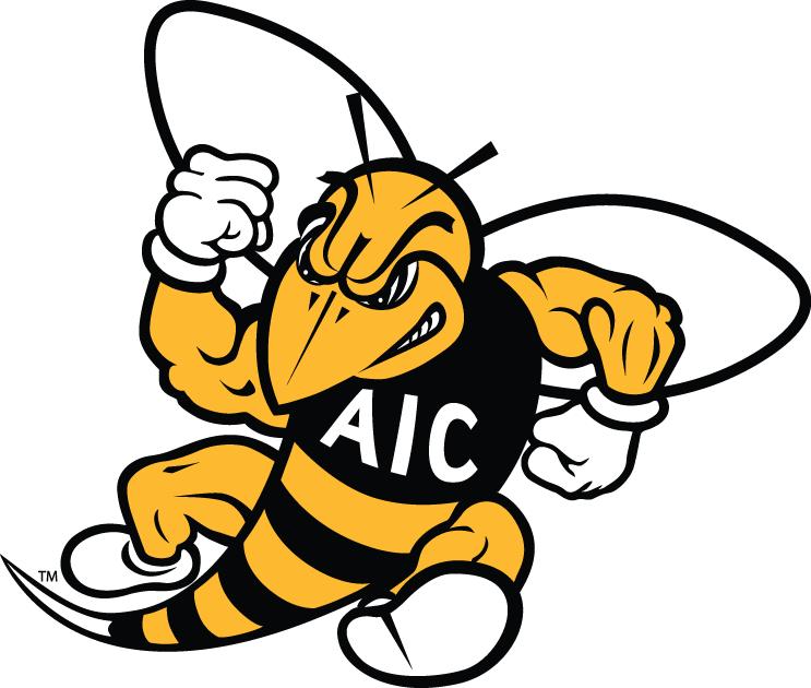 AIC Yellow Jackets Logo Secondary Logo (2009-Pres) -  SportsLogos.Net